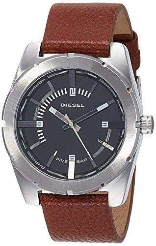 Diesel Herren-Armbanduhr XL Analog Quarz Leder DZ1631