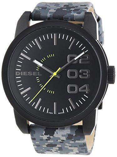 Diesel Herren-Armbanduhr XL Analog Quarz Leder DZ1664