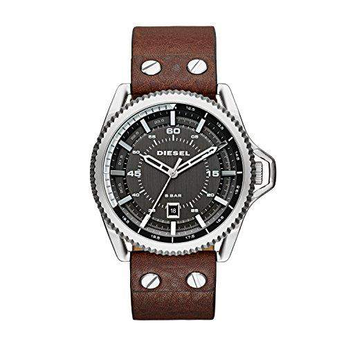Diesel Herren-Armbanduhr Rollcage Analog Quarz Leder DZ1716