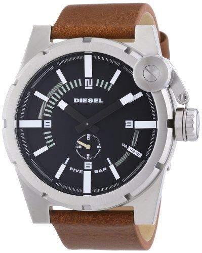 Diesel Herren-Armbanduhr XL Analog Quarz Leder DZ4270