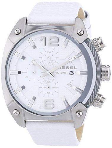 Diesel Herren-Armbanduhr XL Analog Quarz Leder DZ4315