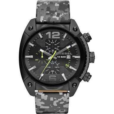 Diesel Herren-Armbanduhr XL Analog Quarz Leder DZ4324