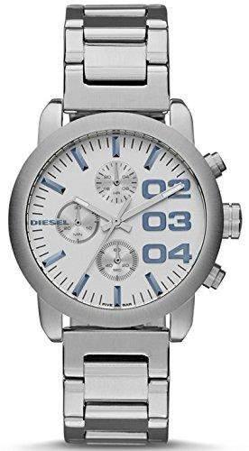 Diesel Herren 40mm Chronograph Silber Edelstahl Armband & Gehaeuse Uhr DZ5463