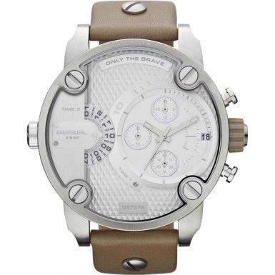 Diesel Herren-Armbanduhr XL Analog Quarz Leder DZ7272