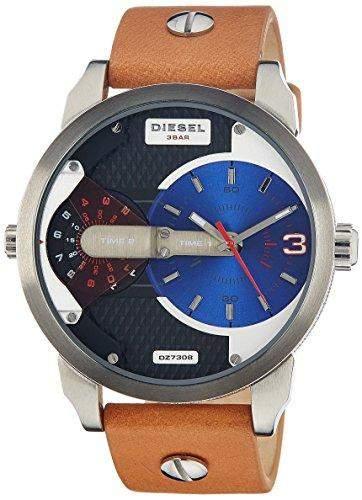 Diesel Herren-Armbanduhr XL Analog Quarz Leder DZ7308