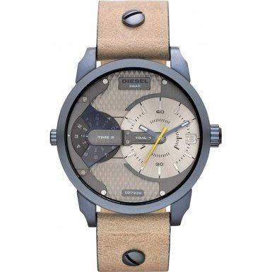 Diesel Herren-Armbanduhr Analog Quarz Leder DZ7338
