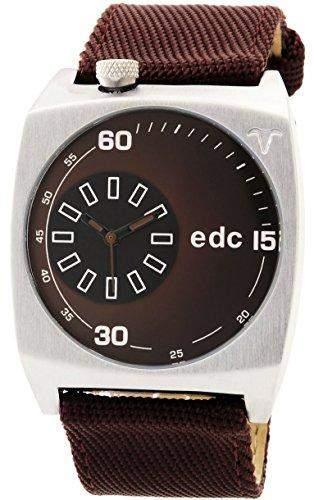 edc by ESPRIT Herren-Armbanduhr Analog Quarz Nylon