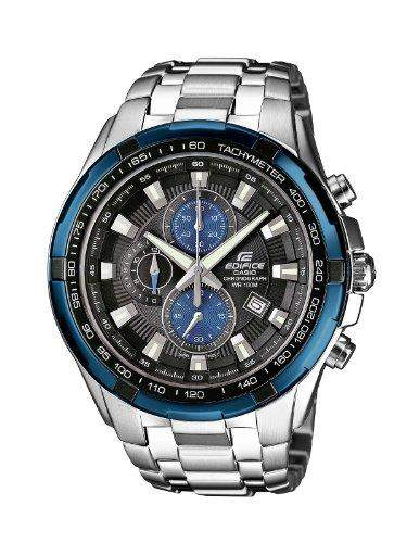 Casio Herren-Armbanduhr XL Edifice Analog Quarz Edelstahl EF-539D-1A2VEF