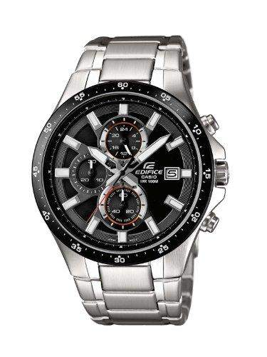 Casio Herren-Armbanduhr XL Edifice Analog Quarz Edelstahl EFR-519D-1AVEF