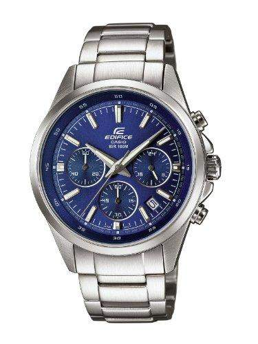 Casio Herren-Armbanduhr XL Edifice Analog Quarz Edelstahl EFR-527D-2AVUEF
