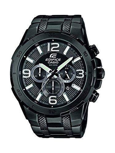 Casio Herren-Armbanduhr Analog Quarz Edelstahl EFR-538BK-1AVUEF