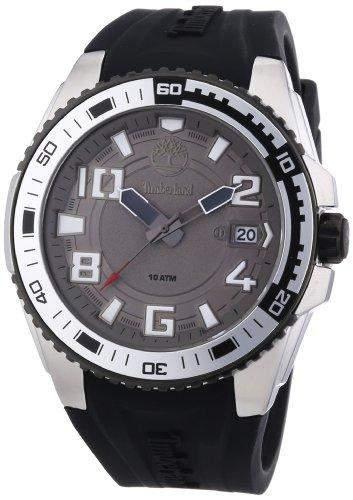 Timberland Herren-Armbanduhr XL Analog Quarz Silikon TBL13900JSSB61