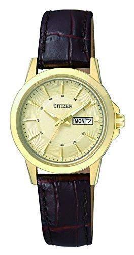 Citizen Herren-Armbanduhr Analog Quarz Leder EQ0603-08PE