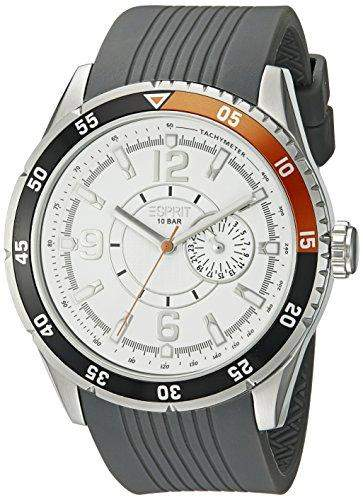 Esprit Herren-Armbanduhr XL Varsity Orange Analog Quarz Kautschuk ES104131001