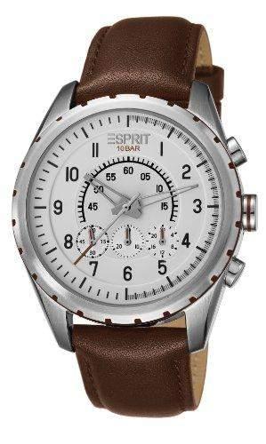 Esprit Herren-Armbanduhr Analog Quarz Leder ES105351002