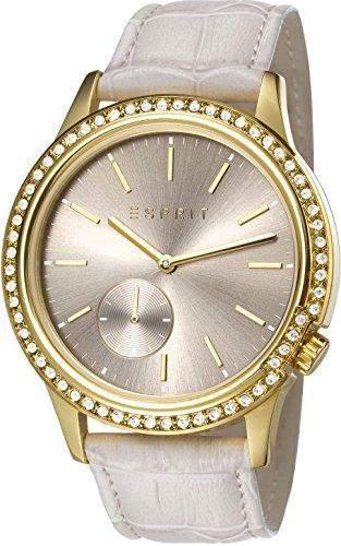 Esprit Damen-Armbanduhr Becky Analog Quarz Leder ES107762003