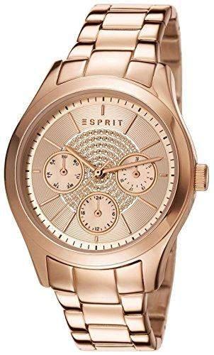 Esprit Damen-Armbanduhr Julia Analog Quarz Edelstahl beschichtet ES107802005
