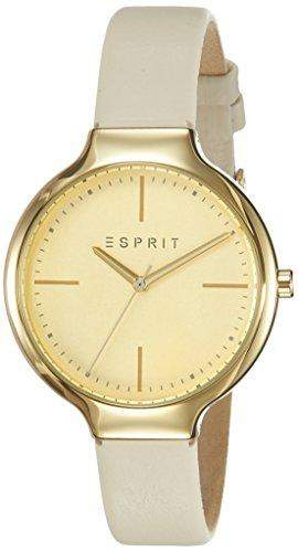 Esprit Damen-Armbanduhr Elaine Analog Quarz Leder ES108142002