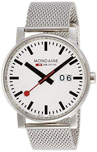 Mondaine Herren-Armbanduhr XL Evo Analog Quarz Edelstahl A6273030311SBM