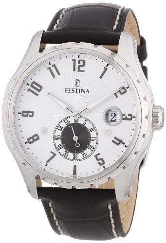Festina Herren-Armbanduhr XL Klassik Multifunktion Chronograph Leder F164861