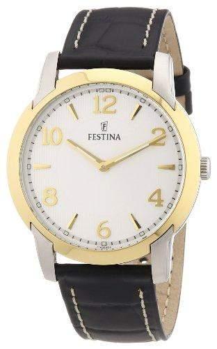 Festina Herren-Armbanduhr XL Klassik Analog Leder F165082