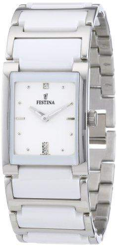 Festina Damen-Armbanduhr Analog Quarz Edelstahl F16536-1
