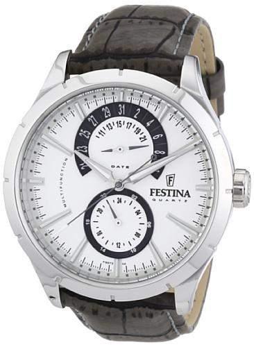 Festina Herren-Armbanduhr Analog Quarz Edelstahl F16573-2