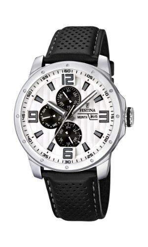 Festina Herren-Armbanduhr Analog Quarz Leder F16585-5