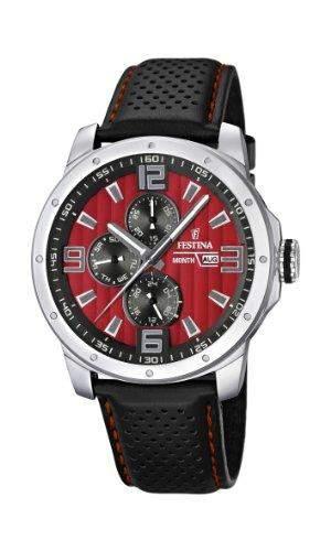 Festina Herren-Armbanduhr Analog Quarz Leder F16585-7