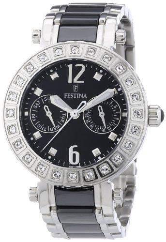 Festina Damen-Armbanduhr Trend Multifunktion Analog Quarz Keramik F165873