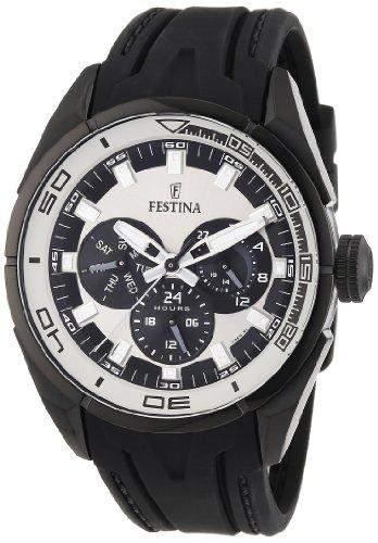 Festina Herren-Armbanduhr XL Analog Quarz Plastik F166101