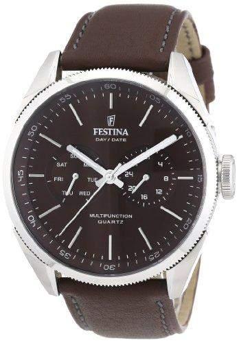 Festina Herren-Armbanduhr Analog Quarz Leder F16629-5