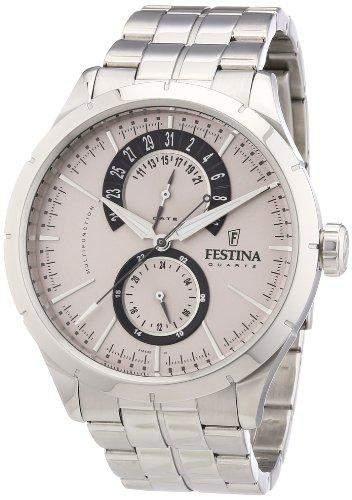 Festina Herren-Armbanduhr Analog Quarz Edelstahl F16632-1