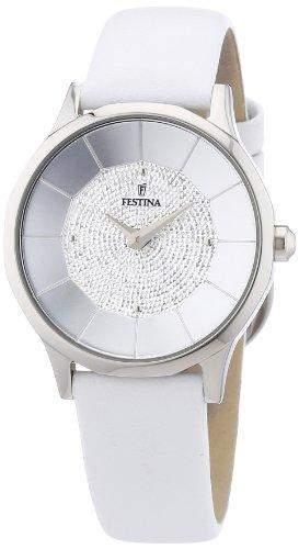 Festina Damen-Armbanduhr XS Analog Quarz Leder F166611