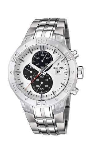 Festina Herren-Armbanduhr XL Analog Quarz Edelstahl F166661