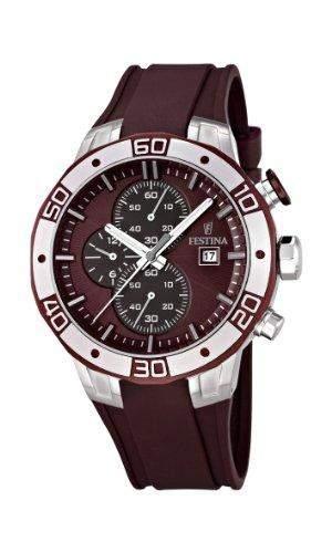 Festina Herren-Armbanduhr XL Analog Quarz Plastik F166673