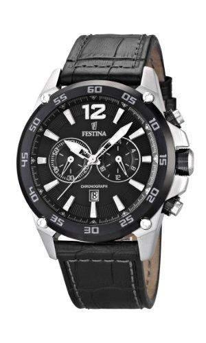 Festina Herren-Armbanduhr Analog Quarz Leder F16673-4