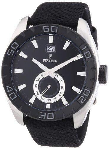 Festina Herren-Armbanduhr XL Analog Quarz Nylon F166744