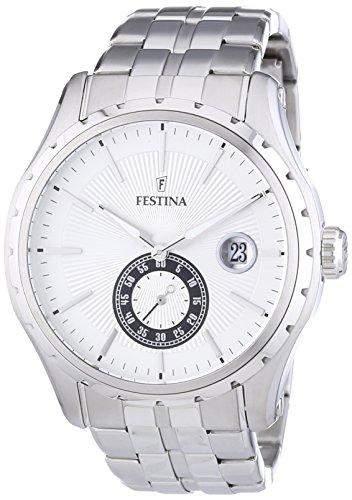 Festina Herren-Armbanduhr XL Analog Quarz Edelstahl F166791