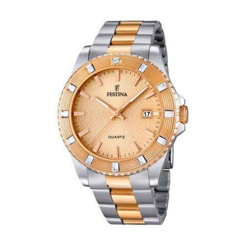 Festina Damen-Armbanduhr Vendome Analog Quarz Edelstahl beschichtet F166872