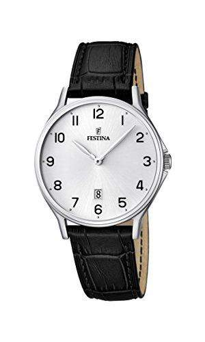 Festina Herren-Armbanduhr XL Analog Quarz Leder F167451
