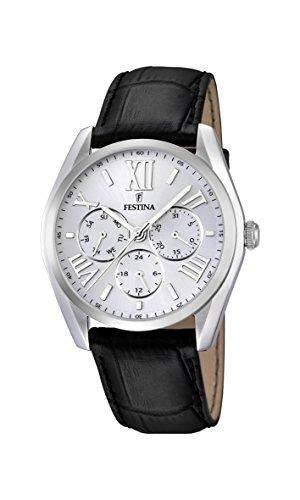 Festina Herren-Armbanduhr XL Analog Quarz Leder F167521