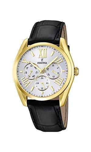 Festina Herren-Armbanduhr XL Analog Quarz Leder F167531
