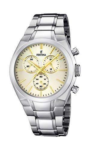 Festina Herren-Armbanduhr XL Analog Quarz Edelstahl F167825