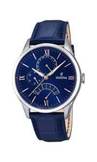 Festina Herren-Armbanduhr Analog Quarz Leder F168233