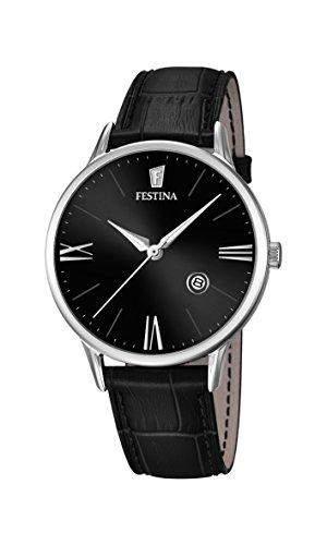 Festina Herren-Armbanduhr Analog Quarz Leder F168244