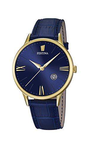 Festina Herren-Armbanduhr Analog Quarz Leder F168253