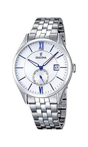 Festina Herren-Armbanduhr RETRO Analog Quarz Edelstahl F16871-1