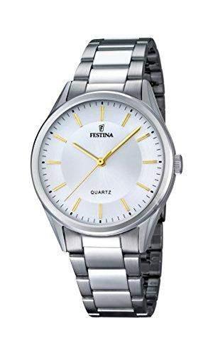 Festina Herren-Armbanduhr Analog Quarz Edelstahl F168754
