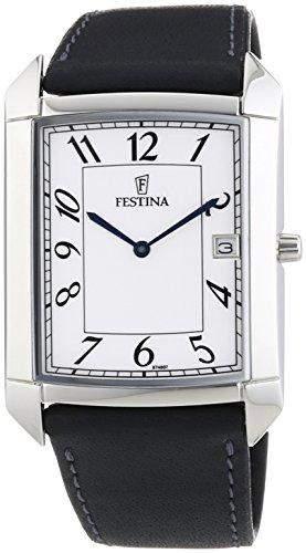 Festina Herren-Armbanduhr Analog Quarz Leder F67487
